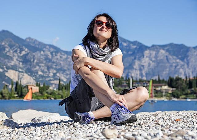 Полина Горбунова на озере Гарда